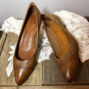 Brown Leather SESTO MEUCCI Heels.